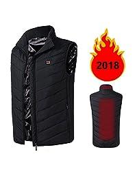 Men's Lightweight Insulated Heated Vest USB Heating Sports Waistcoat Down Vest