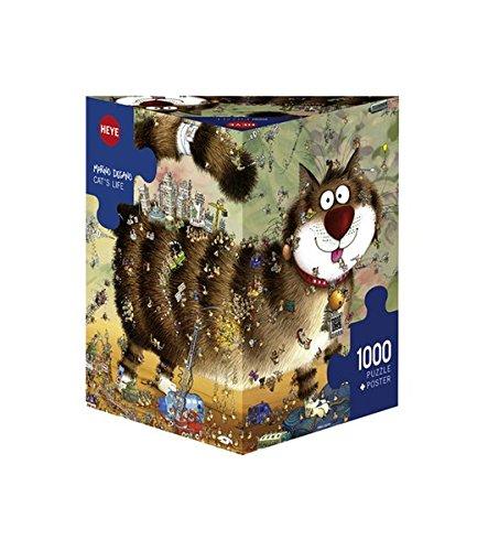 Birthday Jigsaw - Heye Cat's Life 1000 Piece Marino Degano Jigsaw Puzzle