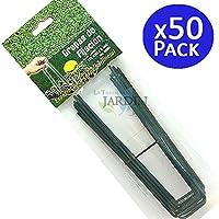 50 GRAPAS de fijación verdes para CESPED ARTIFICIAL