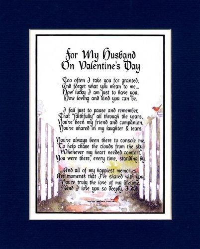 Amazon Com A Gift Present Poem For My Husband On Valentine S Day