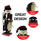 Clever Creations White Vintage Santa 14 Inch