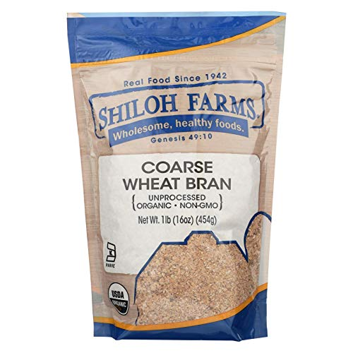 Amazon Com Shiloh Farms Organic Coarse Wheat Bran 1 Pound 12 Per Case Wheat Flours And Meals Grocery Gourmet Food