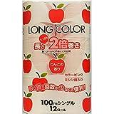 香つきトイレットペーパー【藤枝製紙 LONG COLOR 12R】 100mシングル|1ケース72個(12RX6P)