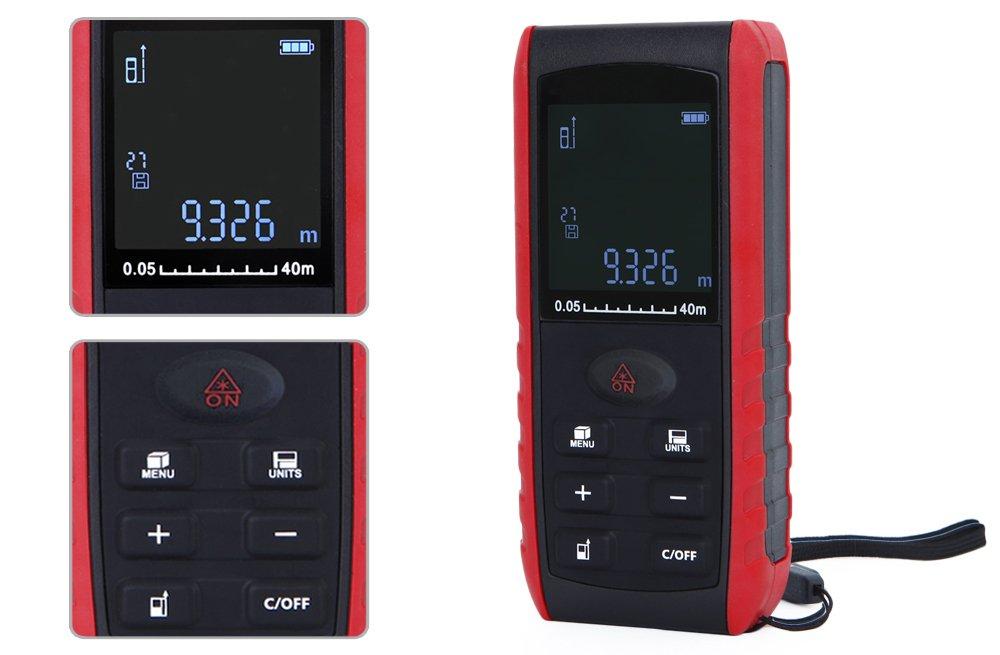 Laser Entfernungsmesser Mit Winkelfunktion : E40 laser entfernungsmesser 40 m messen werkzeug: amazon.de: baumarkt