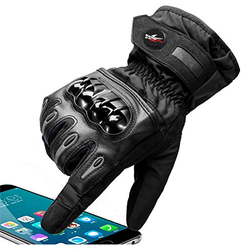 TOPHOUSE Motorcycle Gloves Touchscreen for Men Outdoor Sports Riding Cycling Airsoft Touchscreen Gloves Waterproof Windproof for Winter, XXL