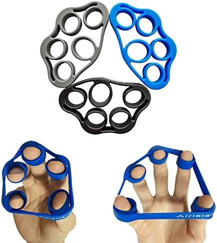 Airislan D - Juego de bandas de resistencia para dedos para ejercicios de artritis, túnel carpiano, guitarra y escalada en roca, 3 unidades