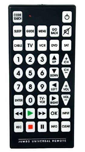 QFX REM-115 Jumbo 8-1 Universal Remote Control (Jumbo Tv Remote Control)