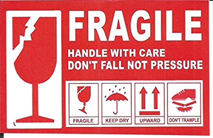 ezeepacks fragile handle with care size 10 x 7 cm self adhesive sticker 200 100 pieces amazon in office products ezeepacks fragile handle with care size 10 x 7 cm self adhesive sticker 200 100 pieces