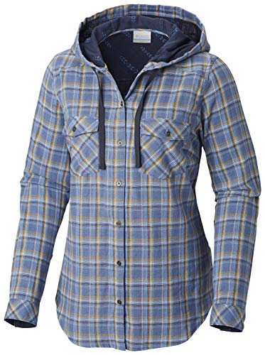 (Columbia Women's Times Two Hooded Long Sleeve, Blue Dusk, X-Large)