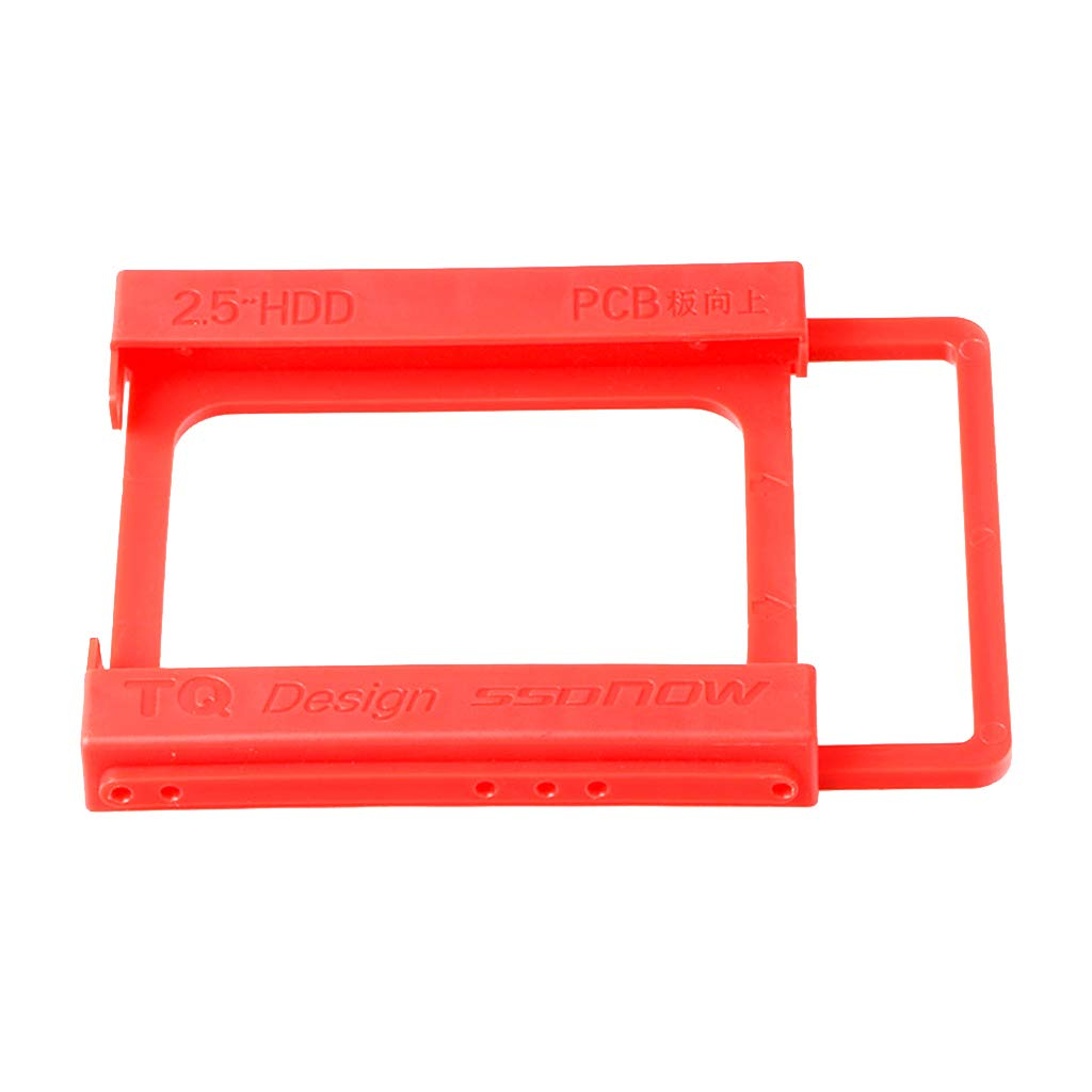 Baosity 2.5'' to 3.5'' SSD/HDD Hard Drive Tray Mounting Adapter Bracket Holder (5.20x3.94x0.55 inch) in Red Color