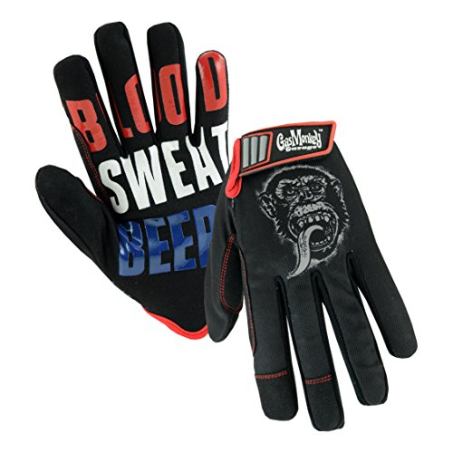 Chester Beer (Gas Monkey Garage GM86605 High Dexterity Synthetic Leather Palm Utility Work Gloves: Blood Sweat & Beers, One Size Fits Most, 1 Pair)