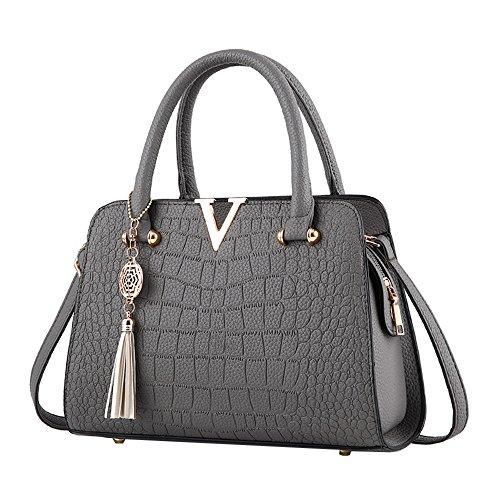 Fashion Women Bag! ZOMUSAR Women's Fashion PU Leather Shoulder Bag Alligator Pattern Ladies Crossbody Handbag ()