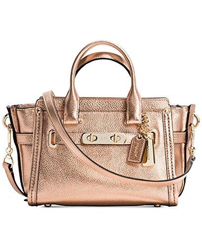 20 Bag Satchel 35990 Coach Swagger Leather Crossbody Metallic Gold 5Pxgwfq7