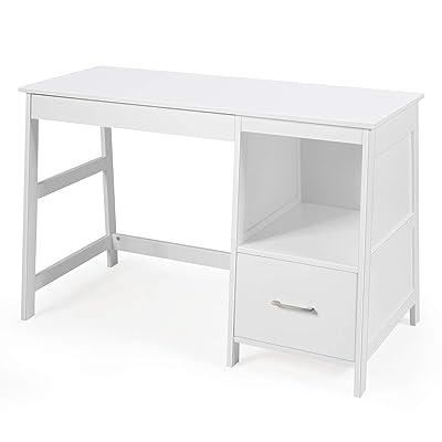 Buy Tangkula White Desk With Storage Drawers Computer Desk Study Writing Desk Modern Home Office Desk Study Desk With Storage Space Makeup Vanity Desk For Bedroom White Online In Turkey B082x9s3qm