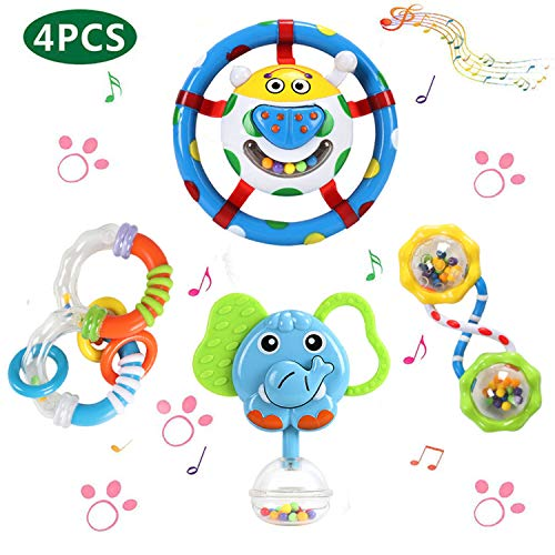 GRACEON Baby Rattles Teether Toy...
