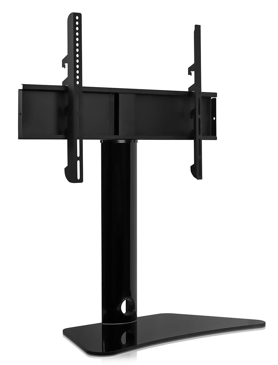 Mount-It Universal Swivel TV Stand, Swiveling Height Adjustable Television Tabletop Base Fits 32 to 65 LED LCD Flatscreens MI-844