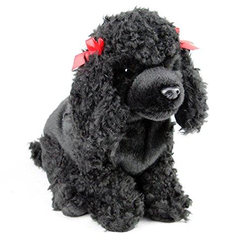 Canine Dog Lover Small Black Poodle Crochet Dog Stuffed Animal Amigurumi Stuffed Dog