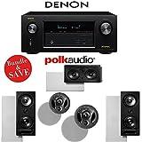 Denon AVR-X3200W 7.2-Channel Full 4K Ultra HD A/V Receiver + Polk Audio 265-LS + Polk Audio 900-LS + Polk Audio 255C-LS - In-Wall / In-Ceiling Bundle