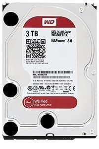 Western Digital WD30EFRX WD 3 TB NAS Hard Drive: 3.5 Inch, SATA III, 64 MB Cache, Red