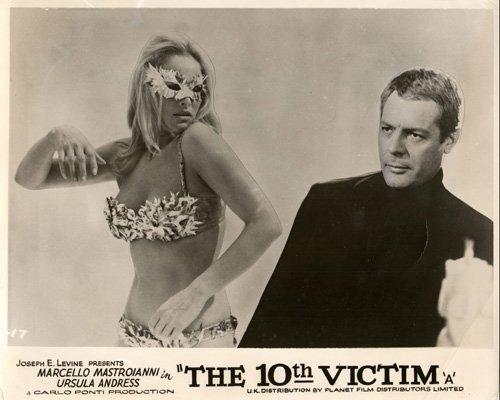 Victim Mask (THE 10TH VICTIM LOBBY CARD URUSLA ANDRESS BIKINI FACE MASK MARCELLO MASTROIANNI)