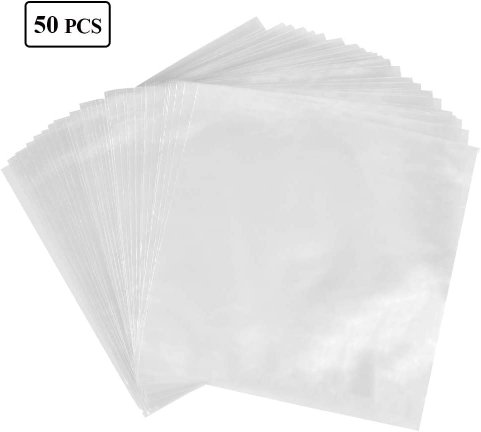 Outer Sleeves for Vinyl Records Transparent Record Album for Vinyl LP Album 32 X 32.3cm FOCCTS 50Pcs Record Sleeves