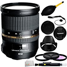 Tamron SP 24-70mm Di VC USD Nikon Mount 10PC Accessory Kit. Includes Manufacturer Accessories + 3PC Filter Kit (UV-CPL-FLD) + Dust Blower + Lens Cap Keeper + Lens Pen + Microfiber Cleaning Cloth