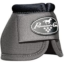 Professional's Choice Equine Ballistic Hoof Overreach Bell Boot, Pair (Medium, Charcoal)