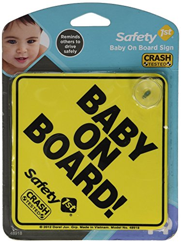 "Safety 1st ""Baby On Board"" Sign"