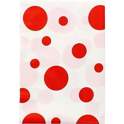Fixo 72303 - Pack de 25 bolsas disfraz, 56 x 70 cm, color rojo