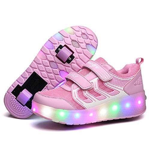 Nsasy Roller Shoes Roller Skates Shoes Girls Boys Wheel Shoes Kids Wheel