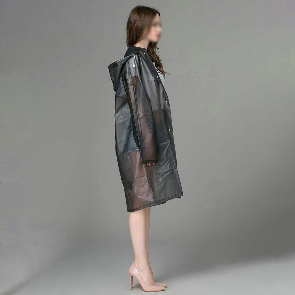 Bongles 1PC EVA Packable Raincoat Wasserdichte Regen Mantel Windjacke f/ür die Dame Klar Transparent Camping Regenkleidung Anzug verdickte