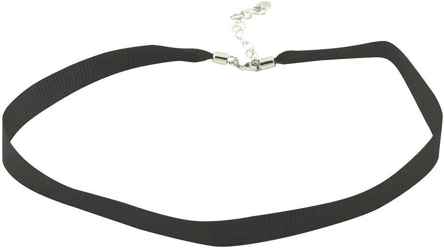 2pcs Black Wide Velvet Choker Bib Chunky Collar Womens Girls Necklace Jewelry