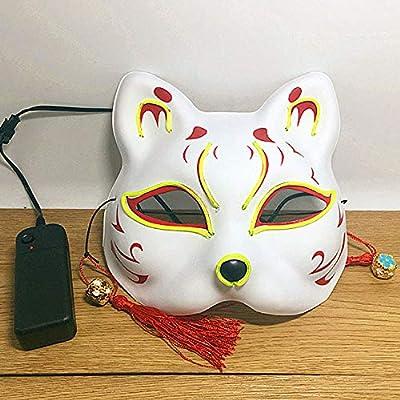 XIBAO Máscaras LED de Halloween, Disfraz Terrible, máscara EL ...