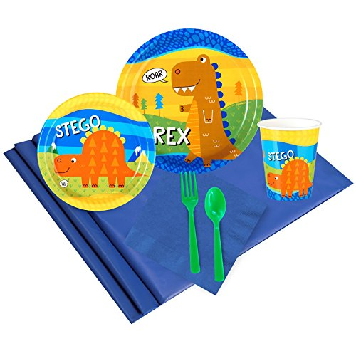 Barney 9 Oz Cups (T-Rex Dinosaur Party Supplies - Party Pack for 8)