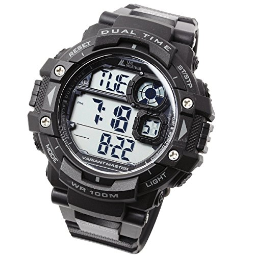 [LAD WEATHER] Stopwatch/Pacer function/100m Water Resistance/Military/Sports/Watch
