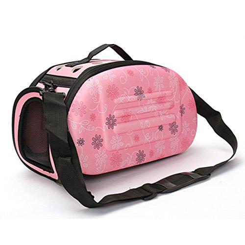 Pink Miss Zebra - Corner Biz Pet Portable Small Pet Dog Cat Sided Carrier Travel Tote Shoulder Bag Cage House Color Pink