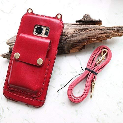 quality design 573a5 f94f5 Amazon.com: Galaxy S9 Plus Leather Phone Case with crossbody strap ...