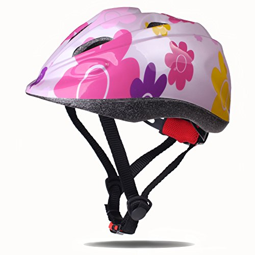 (Dostar Kids Bike Helmet – Adjustable Helmet Cycling Scooter Multi-Sport Durable Kid Bicycle Helmets Boys and Girls Will Love - CSPC Certified for Safety and Comfort (Sunflower Pink))