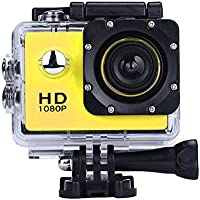 Howley Mini 1080P Full HD DV Sports Recorder Car Waterproof Camera Camcorder (Yellow)