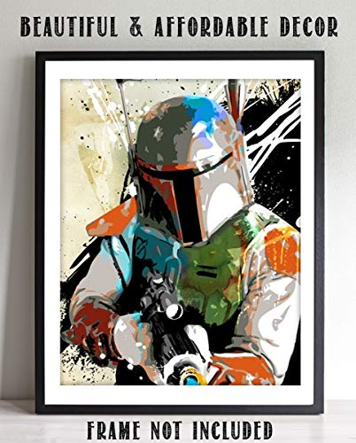 Star Wars- Boba Fett Abstract Poster Print-8 x 10