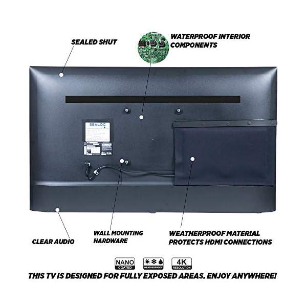 "Outdoor TV Full Weatherized 65"" UHD Smart Weatherproof LED Television Sealoc 4K 7"