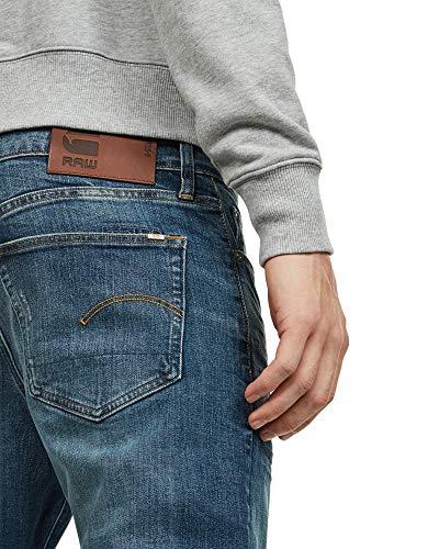 medio 071 invecchiato G A670 Jeans star Noir Raw Homme TqX8H