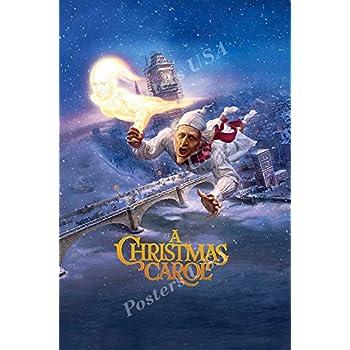 Amazon.com: Posters USA Disney Classic A Christmas Carol Jim Carrey Movie Poster GLOSSY FINISH ...