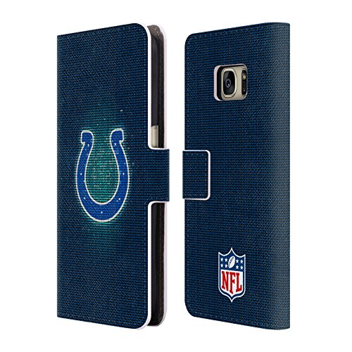 Official NFL LED 2017/18 Indianapolis Colts Leather Book Wallet Case Cover for Samsung Galaxy (Indianapolis Football Wallet)