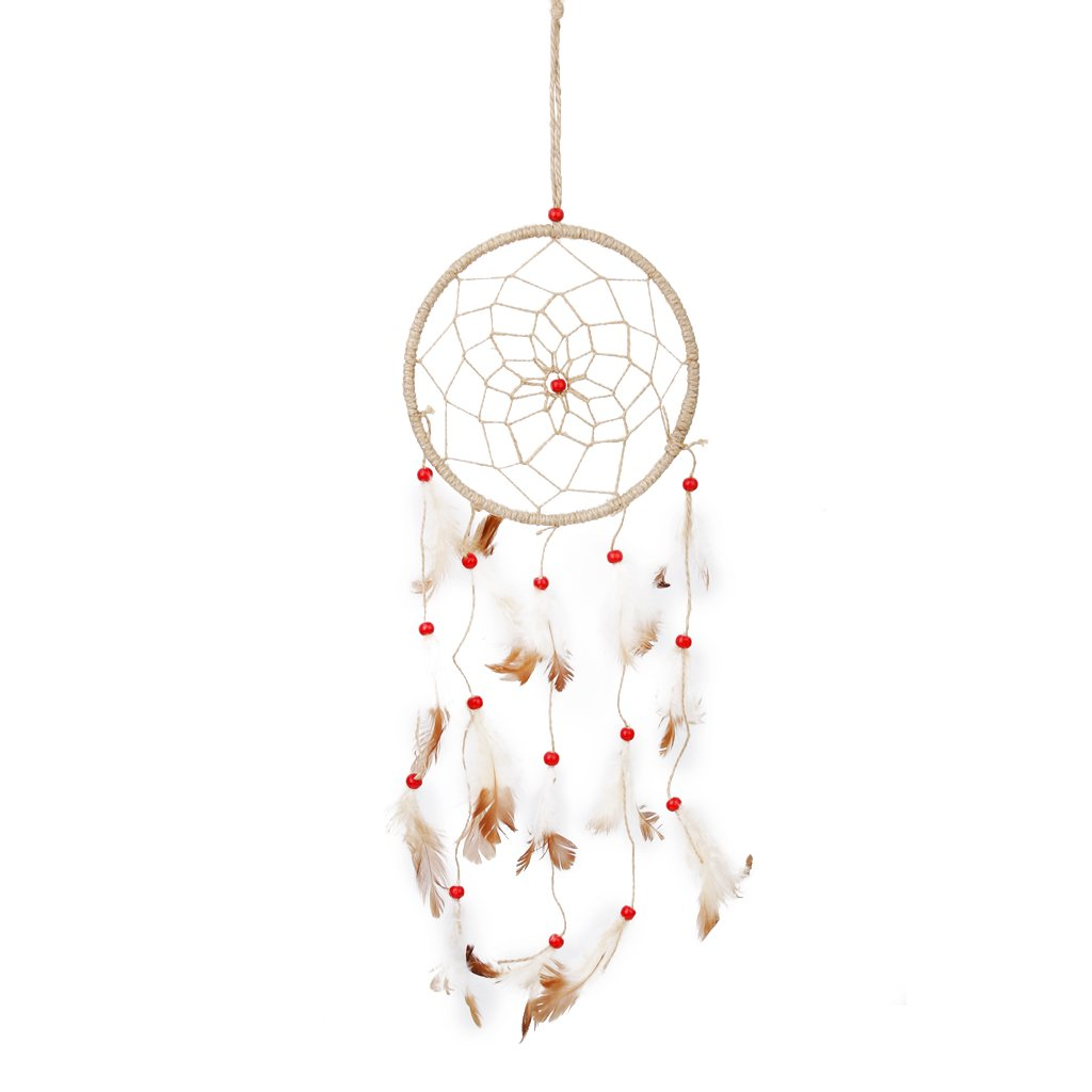 Handmade Feather with Beads Dream Catcher Wall Hanging Decoration BHBA777