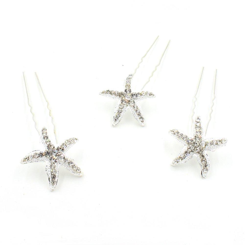 Yazilind Fine Starfish incrusté de strass Épingles à cheveux mode femmes cadeau de mariage cheveux ornements (1pcs) YAZILIND JEWELRY LIMITE 1705T0093