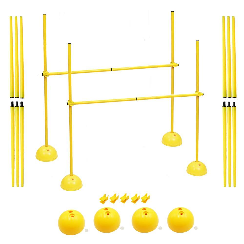 AKA- Hurdle for Jump Exercise | Soccer & Basketball Dribble Trainig Pole | Dog Agility Equipment by AKA Sports Gear