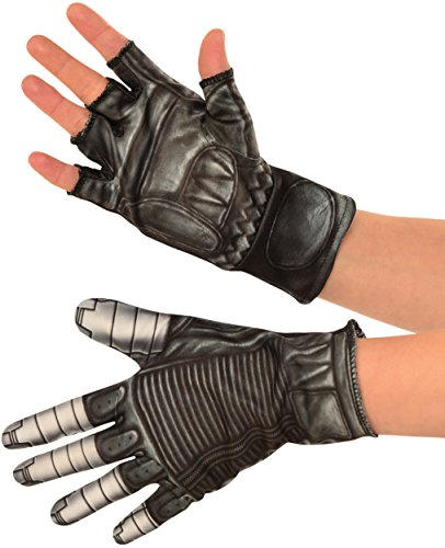 Winter Soldier Costume Accessories (Rubie's Costume Co. Men's Captain America: Civil War Winter Soldier Gloves, Black, One Size)