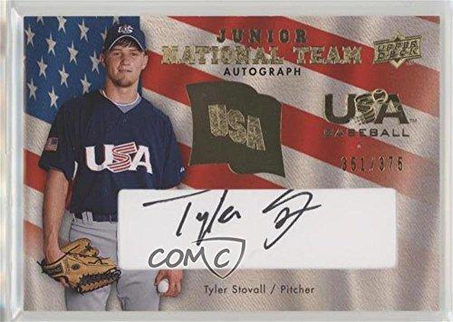 375 Ink (Tyler Stovall #/375 (Baseball Card) 2008 Upper Deck - USA Baseball Junior National Team - Black Ink Autographs [Autographed] #USJR-TS)