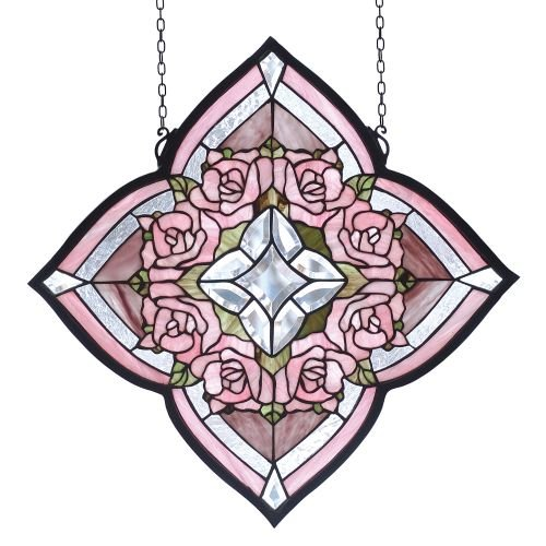 Meyda Tiffany 72642 Ring of Roses Stained Glass Window, 20